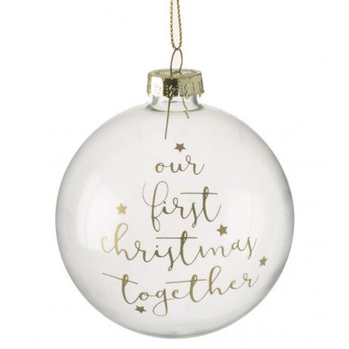 Our First Christmas Together Bauble