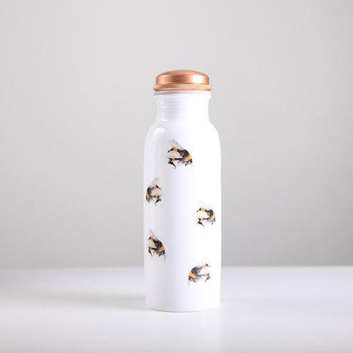 Bee Pattern Copper Water Bottle