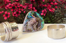 Sterling silver spinner and wrap rings w