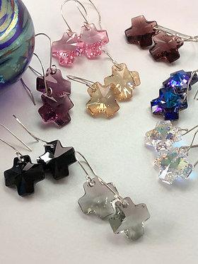 Swarovski Cross earrings