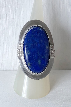 Lapis lazuli and silver ring