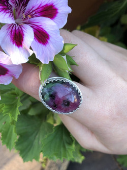 Ruby zoisite and silver ring_edited