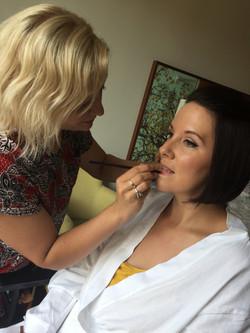behind the scenes bridal makeup