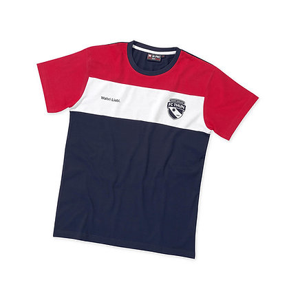 T-Shirt Kids rot/weiss/blau