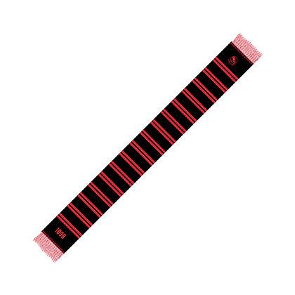 Seidenschal schwarz/rot