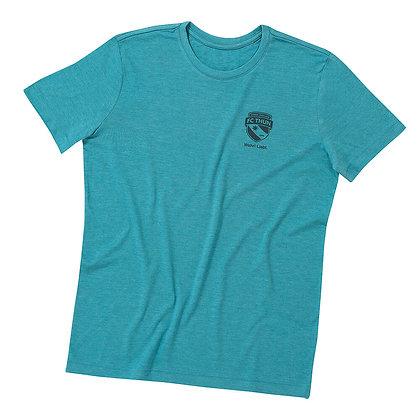 Melange T-Shirt Damen Minz