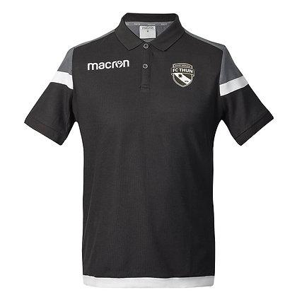 Macron Polo-Shirt Shofar schwarz/grau