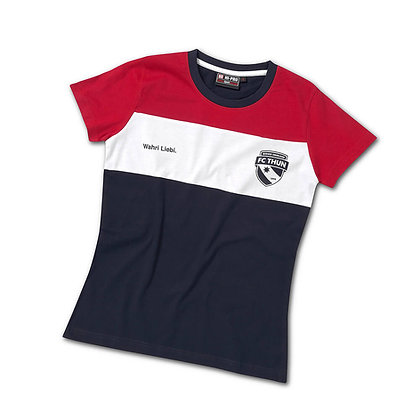 T-Shirt Frauen rot/weiss/blau