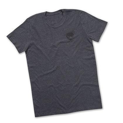 Melange T-Shirt Herren Dunkelgrau
