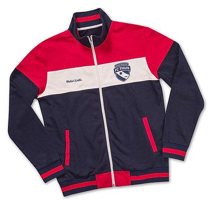 Zip-Jacke rot/weiss/blau