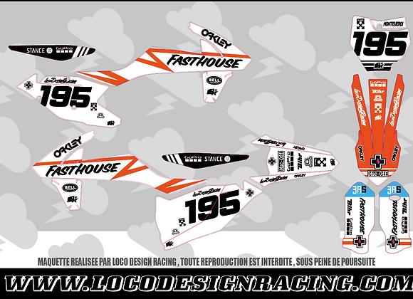 KIT DECO SX F KTM BLANC #195