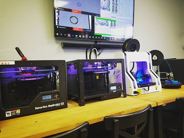 All 4 3D printers were up and running to