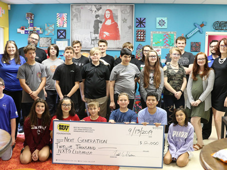 Next Generation Clubhouse receives $12,000