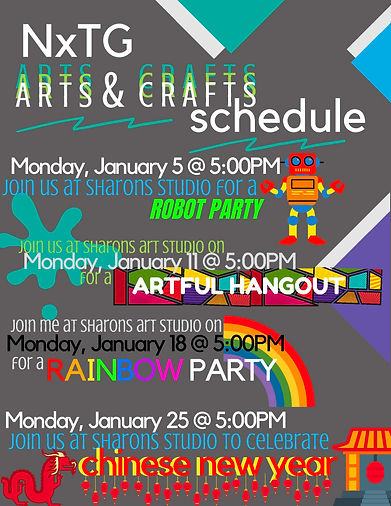 Nxtg arts & crafts schedule January (1).