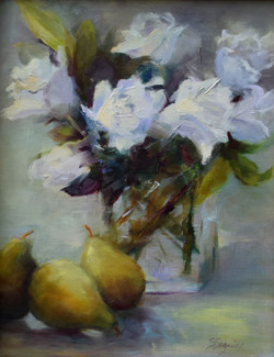 Pears with Roses