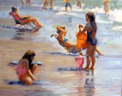 Beach Girls 20x16