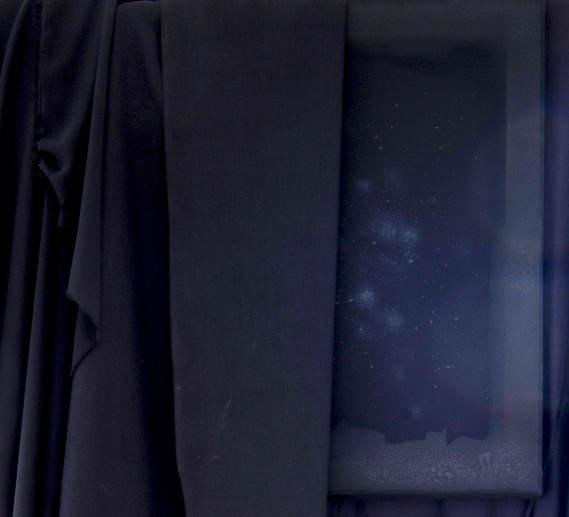 black drape