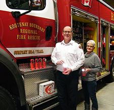 Twenty-five Rechargeable Flashlights Donated to Kootenay Boundary Regional Fire Rescue