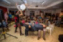 מופע ג'אגלינג בשיתוף הקהל חן מרלגית