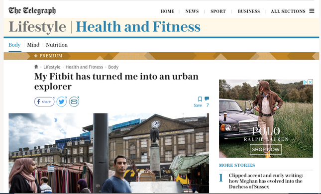 Fitbit made me an urban explorer: from the Telegraph