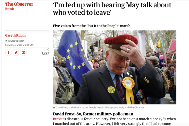 The People's Vote march - from the Observer