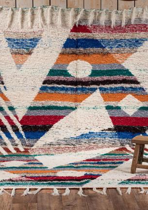 Tapis coton double motifs