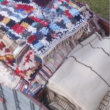 Tapis Boucherouite en laine
