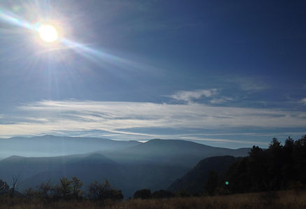 maravillosos paisajes durante la ruta en la Sprinter 4x4
