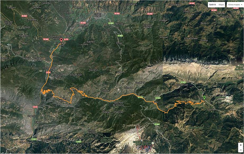 ruta de Gosol al Pla de Sant Tirs