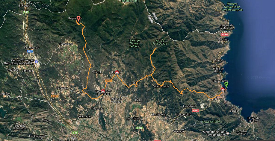 4x4 route from Creus Cape to Requesens