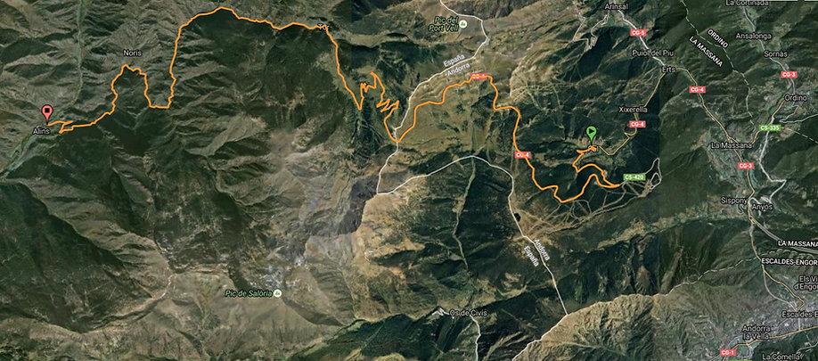 Ruta de Pal a Alins de la Vall Ferrera