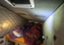 sleeping in campervan