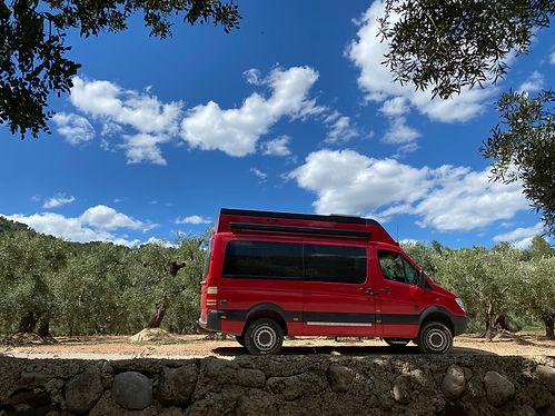hire camper Spain