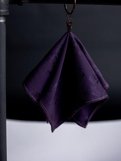 Purple Tux Pocket Square