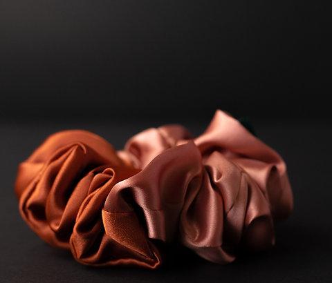 Coral + Copper Lite Scrunchie