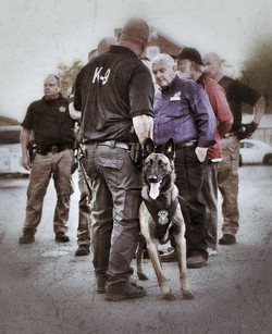 K-9 Team and Dog Mikey