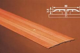 Порог одноуровневый, c отверстиями, ширина 80мм