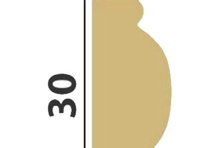Профиль интерьерный (бордюр) 30х14