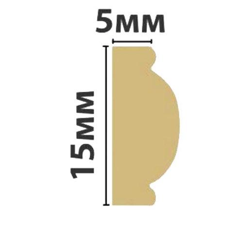 Профиль интерьерный (бордюр) 15х5