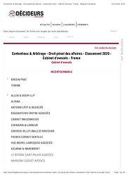 Contentieux & Arbitrage - Droit pénal de
