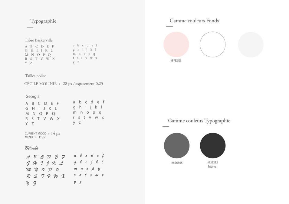 CHARTE TYPOGRAPHIQUE & COULEURS