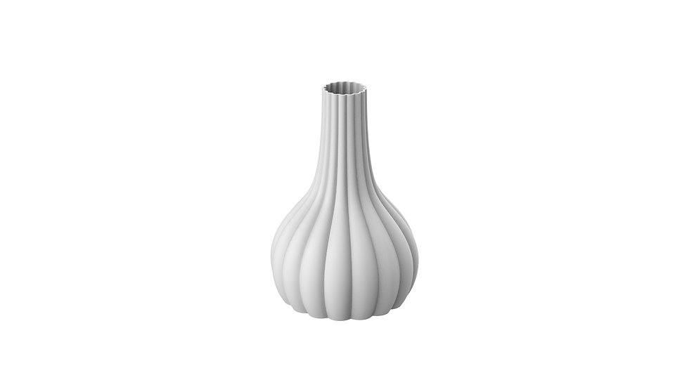 Convex Meringue Vase
