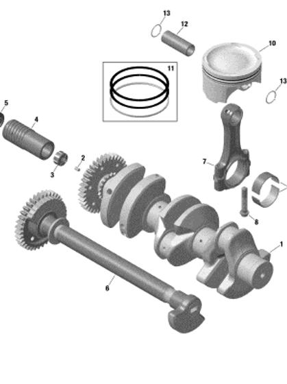 420640991Connecting rod Screw M10 X 1