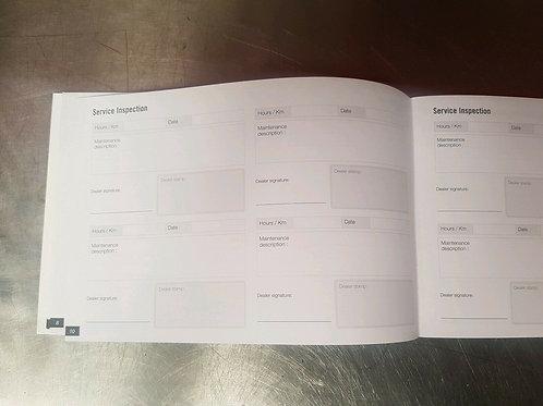 SEADOO Genuine OEM blank service booklet