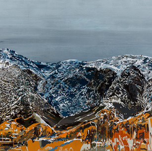 Mountain with Orange