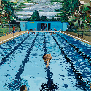 Pool with Camouflage