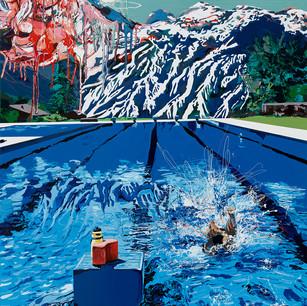 Pool with ice cream