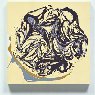 Blueberry swirl cheesecake
