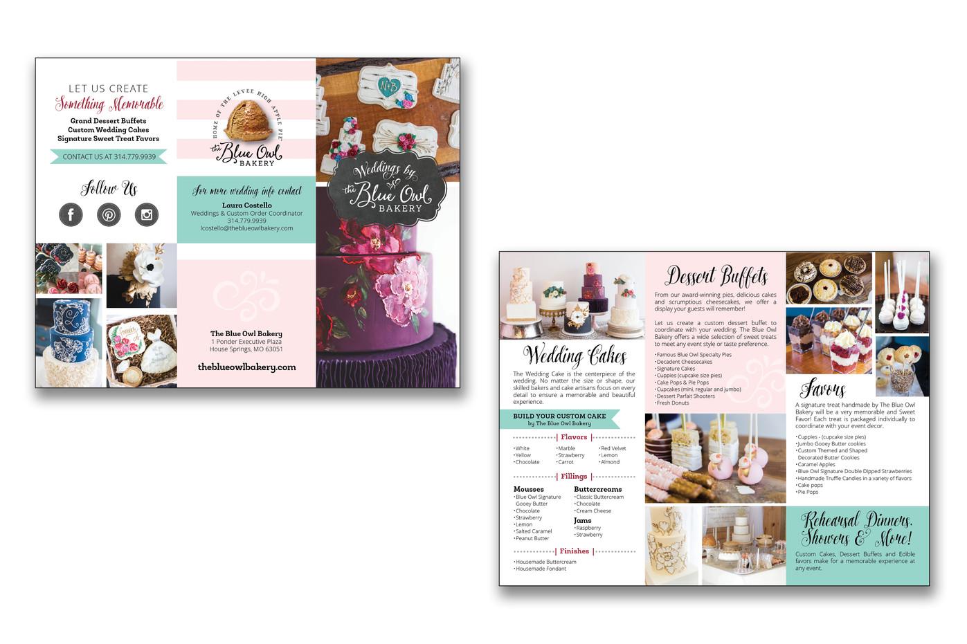 The Blue Owl Bakery Brochure