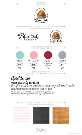 The Blue Owl Bakery Style Guide